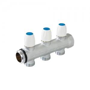 poza Colector de distributie cu robineti de oprire maxima verti -  1'' - D3/4 x 18 - 3 cai