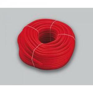 poza Teaca ondulata de protectie Tiemme de culoare rosie 20mm - colac 100 ml