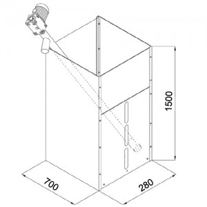 poza Rezervor peleti ARCA CALDAIE 400kg + SNEC 180cm