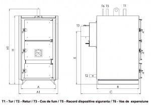 Poza Dimensiuni Centrala termica pe lemne THERMOSTAHL MCL 200 - 232 kW