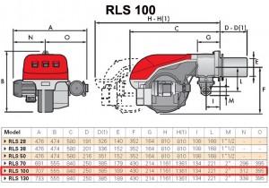 Poza Dimensiuni Arzator mixt Riello RLS 100 - 349-1163 kW