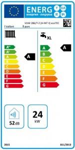 Poza Clasa energetica Centrala termica in condensatie VAILLANT ecoTEC pure VUW 286/7-2, 26,1 kW