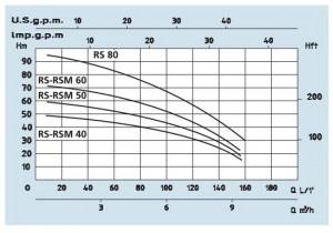 Poza Grafic de performanta Pompe centrifuge SPERONI RSM 40