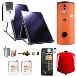 poza Pachet solar Ferroli Ecotop VHM 2.1 si boiler Ecounit 200-2C WB