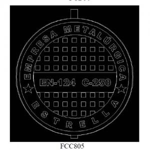 poza Capac fonta carosabil clasa C FCC805 - 24-40 tone