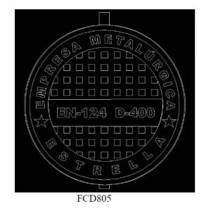 poza Capac fonta carosabil clasa D FCD805 - 40 tone