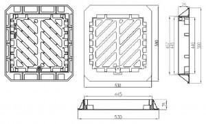 Poza Dimensiuni Gratar fonta carosabil FGD50