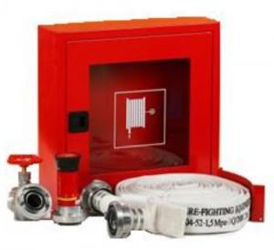 poza Cutie hidrant interior AURAS LT C52 cu usa cu sticla - rosie - complet echipata
