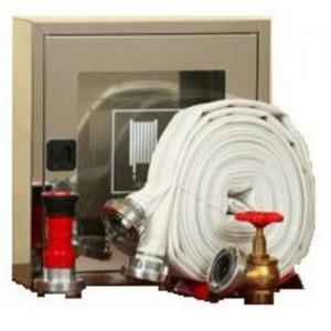 poza Cutie hidrant interior AURAS LT C52 cu usa cu sticla - inox - complet echipata