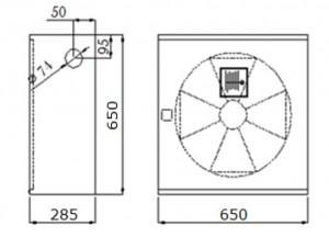 Poza Dimensiuni Cutie hidrant interior AURAS AT 25 - cu usa cu sticla - rosie - complet echipata
