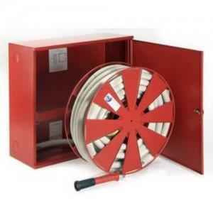 poza Cutie hidrant interior AURAS AT 33 - cu usa cu sticla - rosie - complet echipata