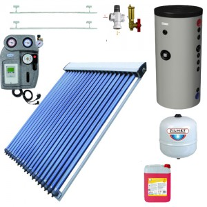 poza Pachet solar Blautech si boiler Hajdu Aquastic 200 litri, automatizare EMMETI
