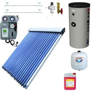 poza Pachet solar Blautech si boiler Hajdu Aquastic 300 litri, automatizare EMMETI