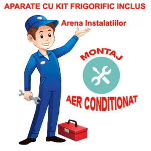 poza Montaj aer conditionat tip split 7000-12000 BTU cu kit frigorific inclus