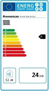 Poza Clasa energetica Centrala termica pe gaz in condensare IMMERGAS VICTRIX TERA 24 PLUS - incalzire = 24 kW