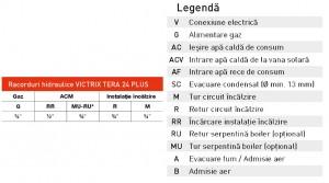 Poza Racorduri hidraulice Centrala termica pe gaz in condensare IMMERGAS VICTRIX TERA 24 PLUS - incalzire = 24 kW