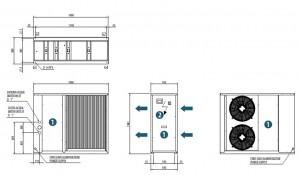 Poza Dimensiuni Chiller aer-apa BICOLD - WBA-E MINI 1015 - 15,2 kW
