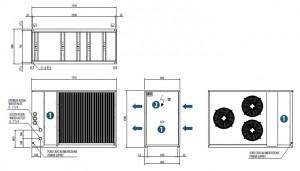 Poza Dimensiuni Chiller aer-apa BICOLD - WBA-E MINI 1040 - 38,8 kW