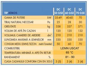 Poza Date tehnice Centrale termice pe lemne cu gazeificare ATMOS DC-GSX