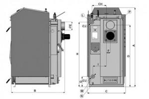 Poza Dimensiuni Centrala termica pe lemne cu gazeificare ATMOS DC-GS