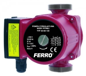poza Pompa circulatie pentru apa potabila FERRO 25-60 130