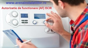 poza Autorizatie de functionare (AF) ISCIR Bucuresti centrale termice 24-28 KW