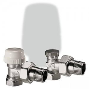 poza Kit robineti radiator IVAR KS 302 1/2 la 1/2 - unghi