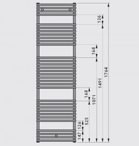 Poza Dimensiuni Calorifer de baie drept Vogel&Noot Della 1800x500