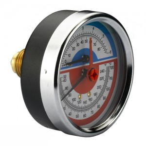 poza Termomanometru IVAR 1/2 FE 120 C - 6 bar radial