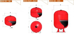 Poza Dimensiuni vase de expansiuni ELBI ERCE