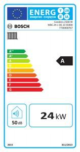 Poza Clasa energetica Centrala termica in condensare Bosch Condens 2500 WBC24-1DE 24 kW - doar incalzire
