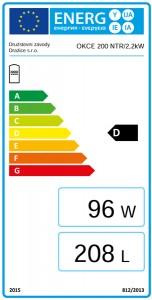 Poza Clasa energetica Boiler termoelectric de sol DRAZICE OKCE 200 NTR / 2.2 kW - 200 litri