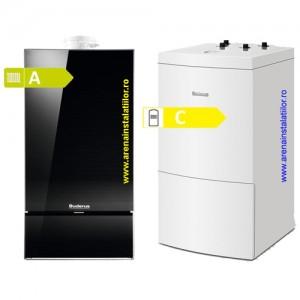 poza Pachet centrala condensatie Buderus Logamax Plus GB 172i neagra - 35 kW + Boiler Buderus WU 120
