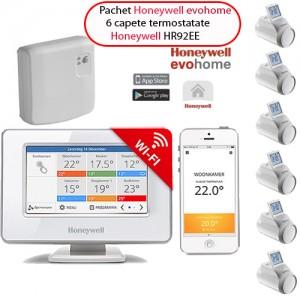 poza Honeywell EvoHOME - comanda pentru centrala si 6 calorifere