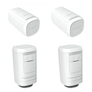 poza Set 4 bucati cap termostatat Honeywell HR91 RF