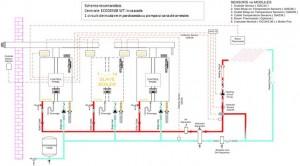 Poza Schema conectare in cascada Centrale termice in condensatie ECODENSE WT