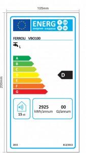 Poza Clasa energetica Boiler electric Ferroli E-GLASSTECH VBO 100 - 100 litri