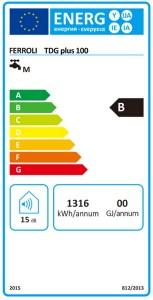 Poza Clasa energetica Boiler electric Ferroli TDG 100 PLUS - 100 litri