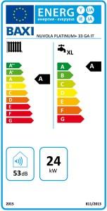 Poza Clasa energetica Centrala termica cu boiler incorporat Baxi Nuvola Platinum+ 33 GA – 33 kW