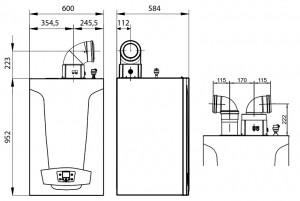 Poza Dimensiuni Centrala termica in condensare Baxi Luna Duo-Tec MP+ 1.90 85 kW numai incalzire