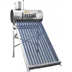 poza Panou solar nepresurizat Ferroli Ecosole JDL-TF18-58/1.8-SS - 18 tuburi si boiler inox 180 litri