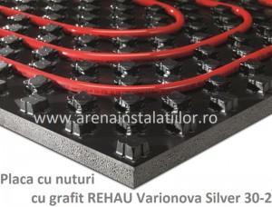 poza Placa cu nuturi cu grafit REHAU Varionova Silver 30-2 - 11,2 m2/bax