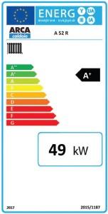 Poza Clasa energetica Centrala termica pe lemne cu gazeificare ARCA ASPIRO 52 R