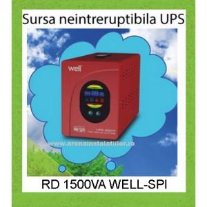 Poza Sursa neintreruptibila UPS RD 1500 VA WELL SPI - 900 W