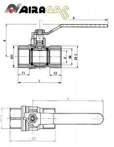 Poza fisa robinet pentru gaze