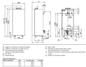 Poza Dimensiuni Centrale termice Viessmann Vitocrossal 300 CU3A