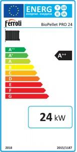 Poza Clasa energetica Cazan din otel pe peleti Ferroli BioPellet Pro 24 - 24 kW