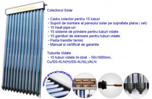 Poza Panou solar 15 tuburi vidate HEAT PIPE