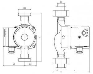 Poza Pompa de circulatie IMP PUMPS NMT PLUS 32/40-180 - dimensiuni
