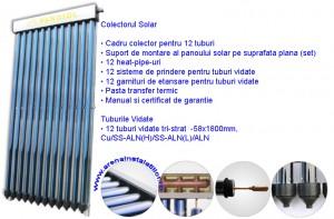 Poza Panou solar 12 tuburi vidate HEAT PIPE
